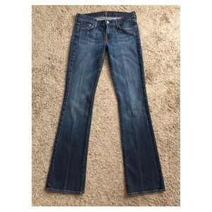 7 For All Mankind Size 28 Boot Cut Blue Jeans